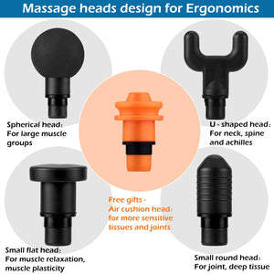 CPPSLEE Massage Gun,Professional Handheld Deep Muscle Massager,Cordless Vibration Massage Device Helps Relieve Muscle Soreness and Stiffness(Black)