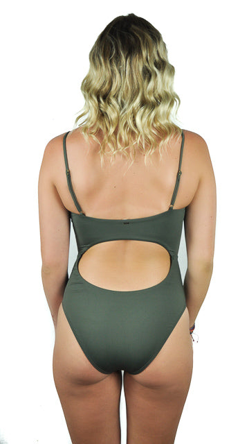 Tank One Piece in Olive