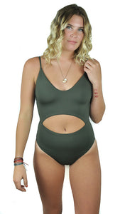 Salt Water Solids Tank One Piece in Olive