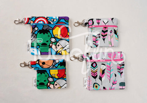 Button Bags a with Clip - Choose your own fabric