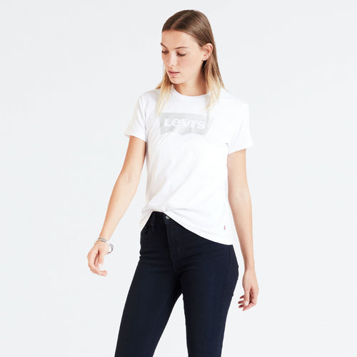 LEVIS PERFECT TEE SILVER Womens Apparel