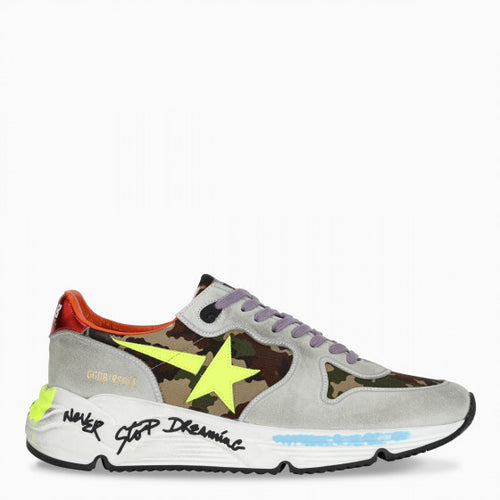 GOLDEN GOOSE RUNNING SOLE CAMOUFLAGE UPPER Unisex Sneakers