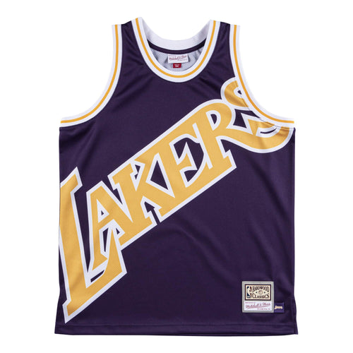 MITCHELL & NESS NBA BIG FACE JERSEY LAKERS Mens Apparel