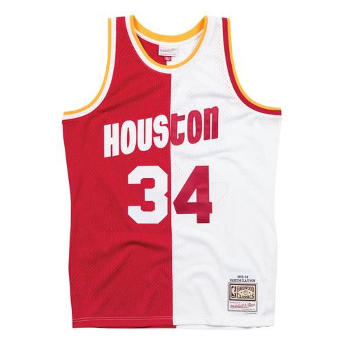 Mitchell & Ness Split Home & Away Swingman Jersey Houston Rockets 1993-94 Hakeem Olajuwon Mens Apparel