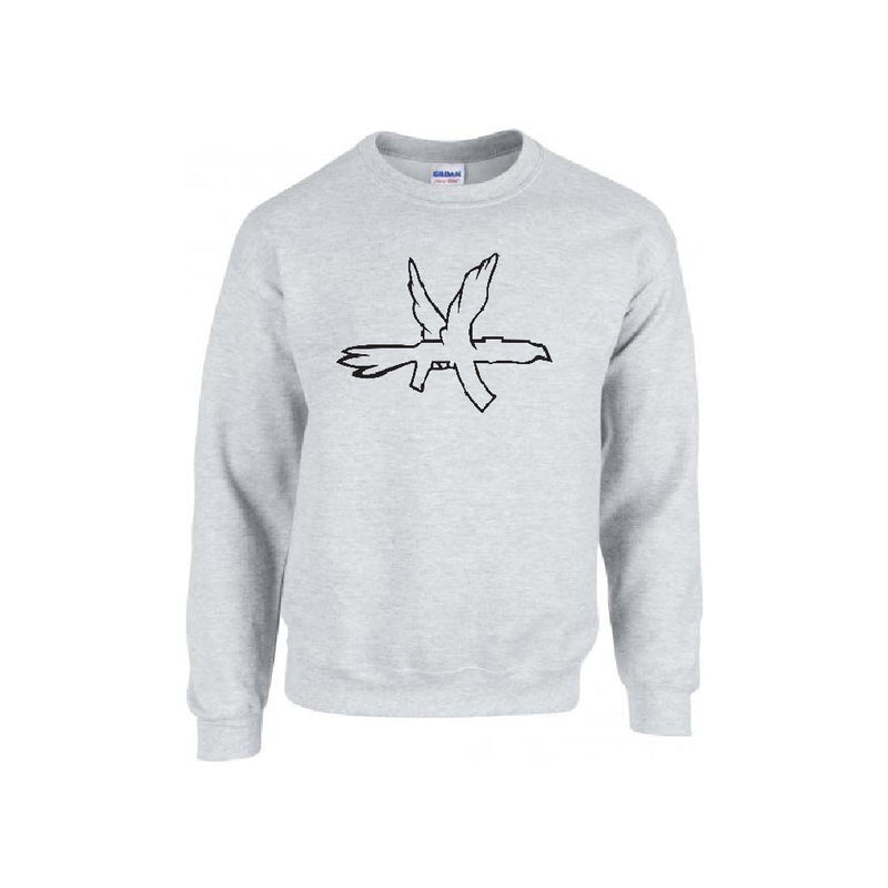 Sweat | Crew neck gris - Logo brodé noir
