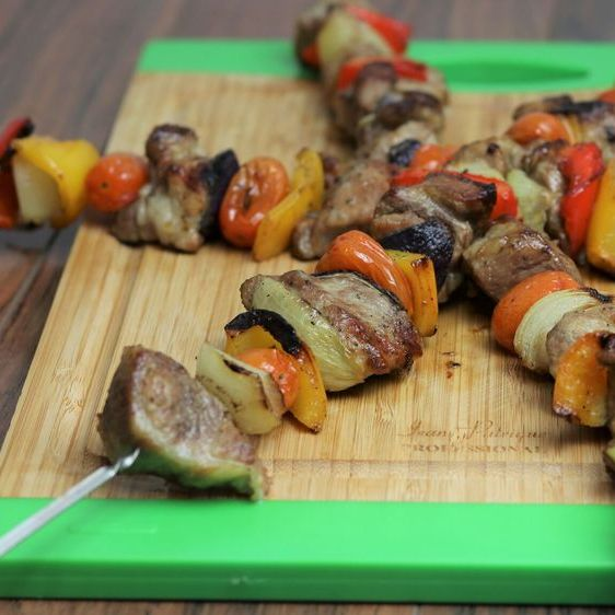 Grilled Roasted Pork Skewers