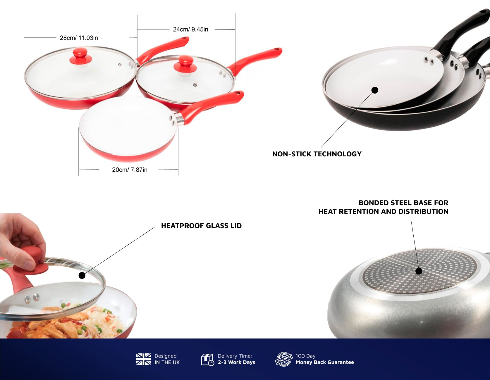 Bio Supreme Ceramic Frying Pan Set Jean Patrique