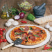 "Giant-Sized 38cm (15"") Italian Pizza Stone and FREE Pizza Wheel Cutter"