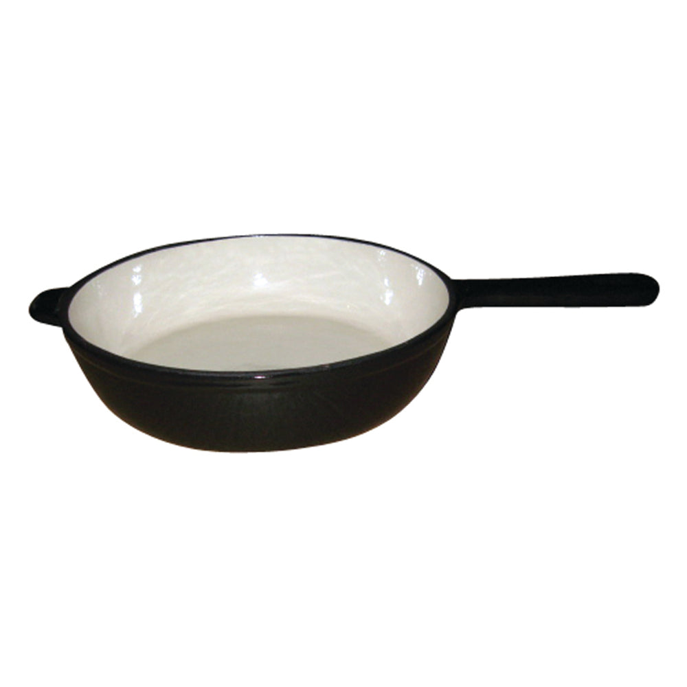 26cm Cast Iron Fry Pan - Black