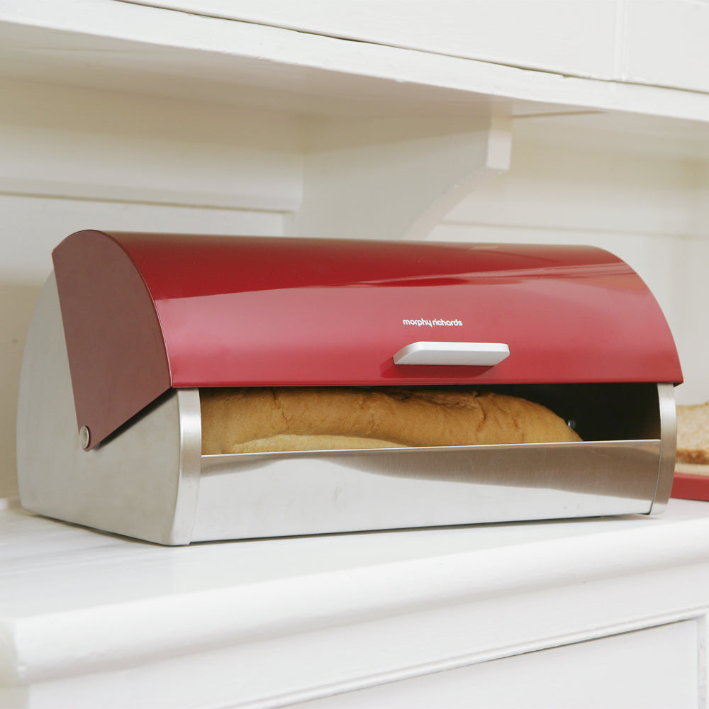 Stainless Steel Roll Top Bread Bin