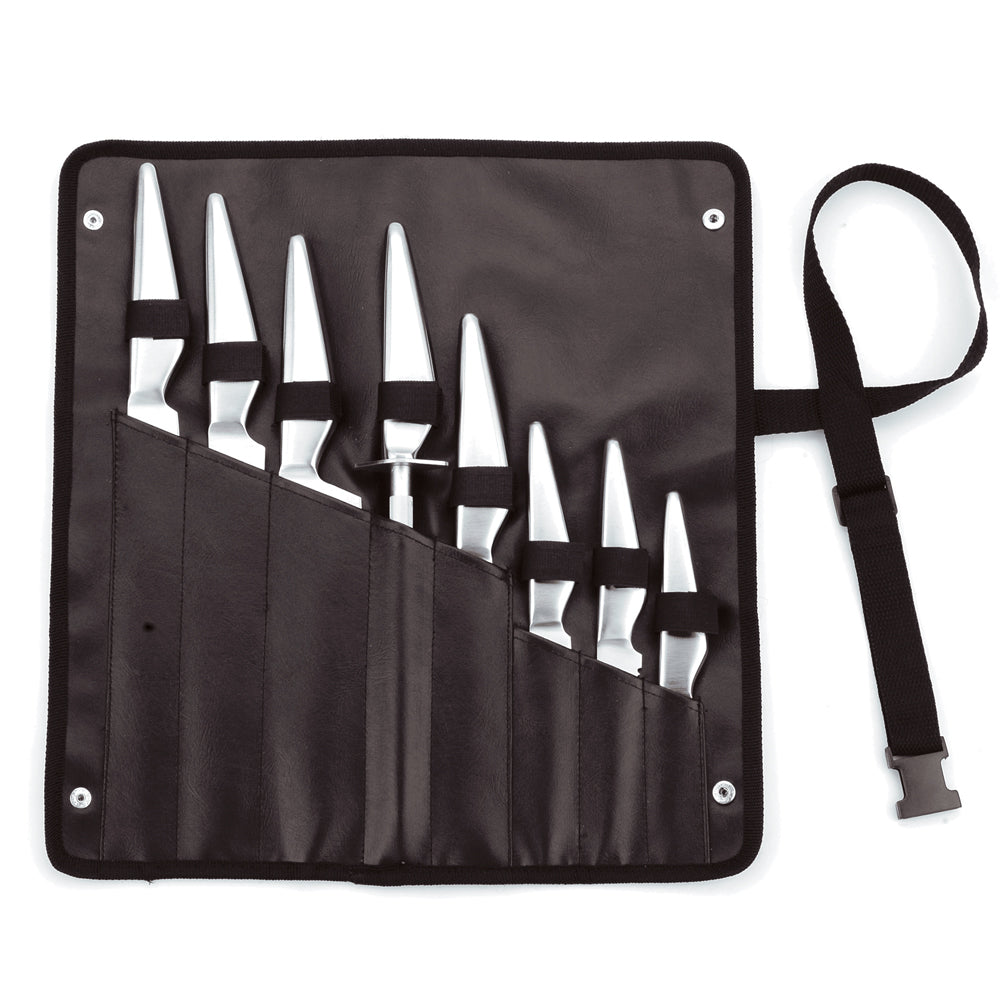 Traditional 8-Slot Hand- Stitched Knife Roll