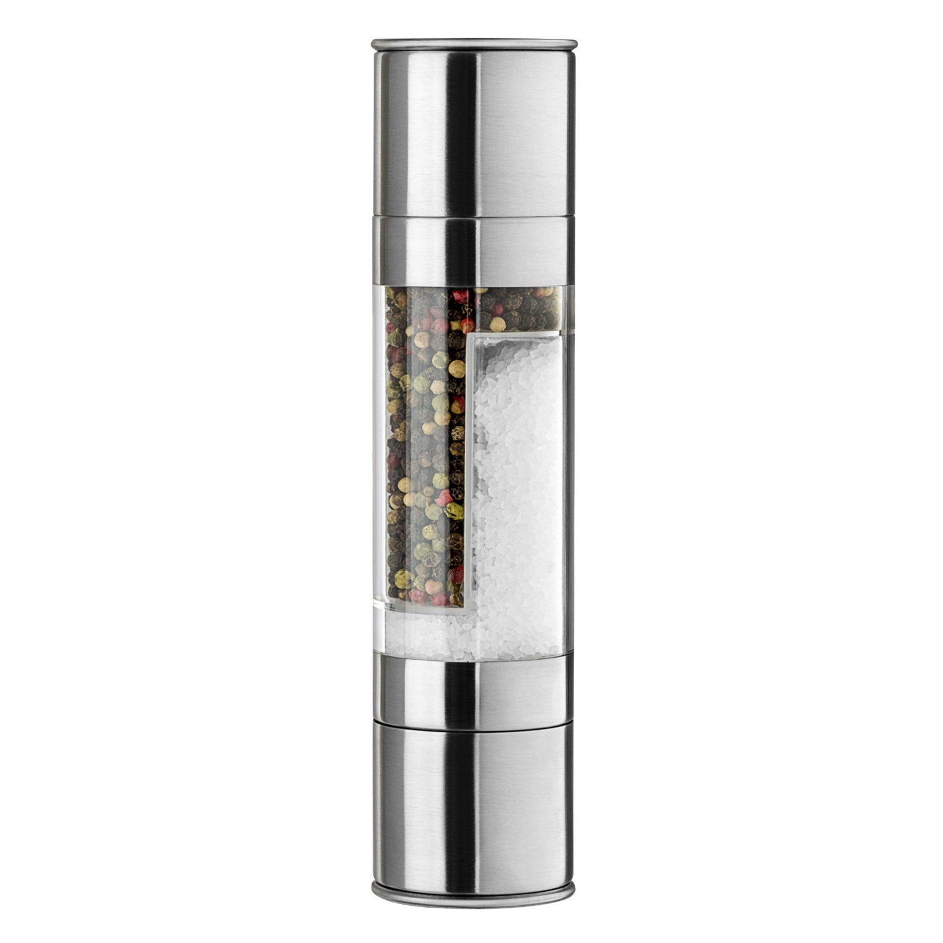 2-in-1 Dual Stainless Steel Salt & Pepper Mill