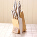 Matching 7-slot Solid Beech Knife Block