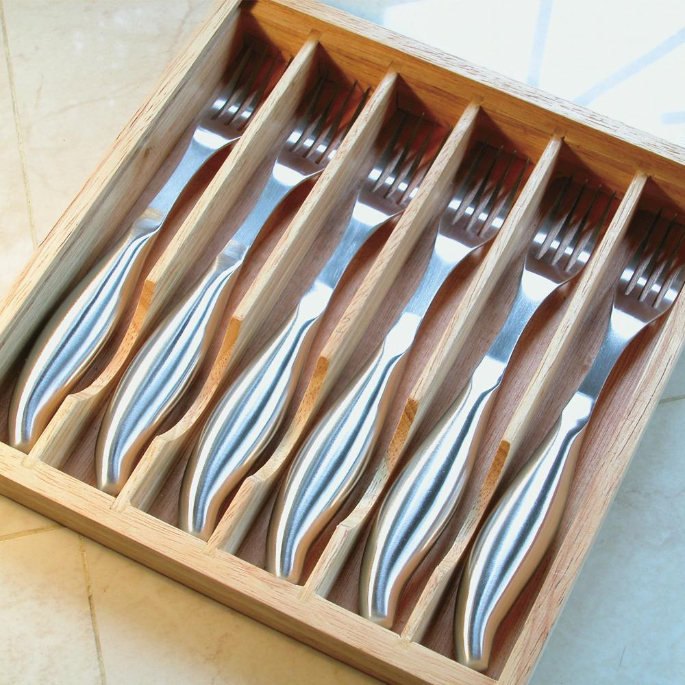 6-Piece Stainless Steel Steak Fork Set