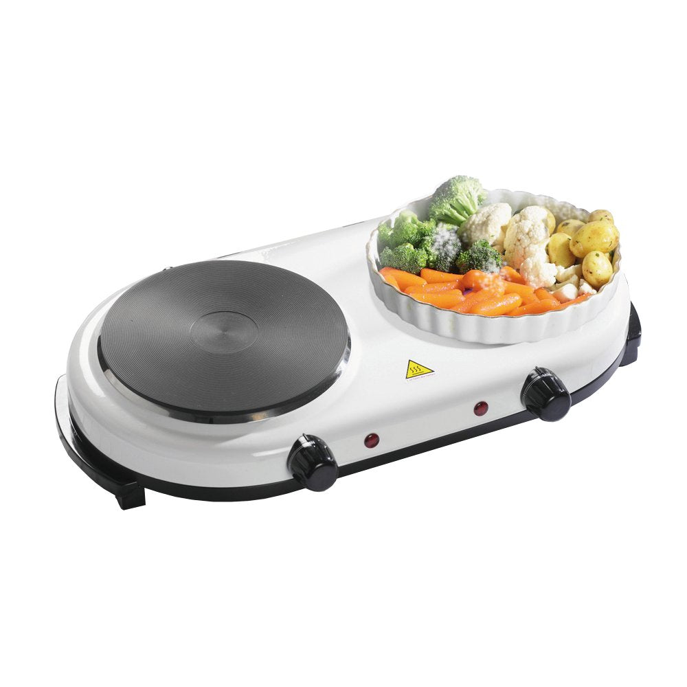 Twin Hob & Electric Warming Plate - Twin