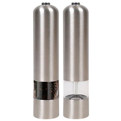 Stainless Steel Electric Salt and Pepper Grinder