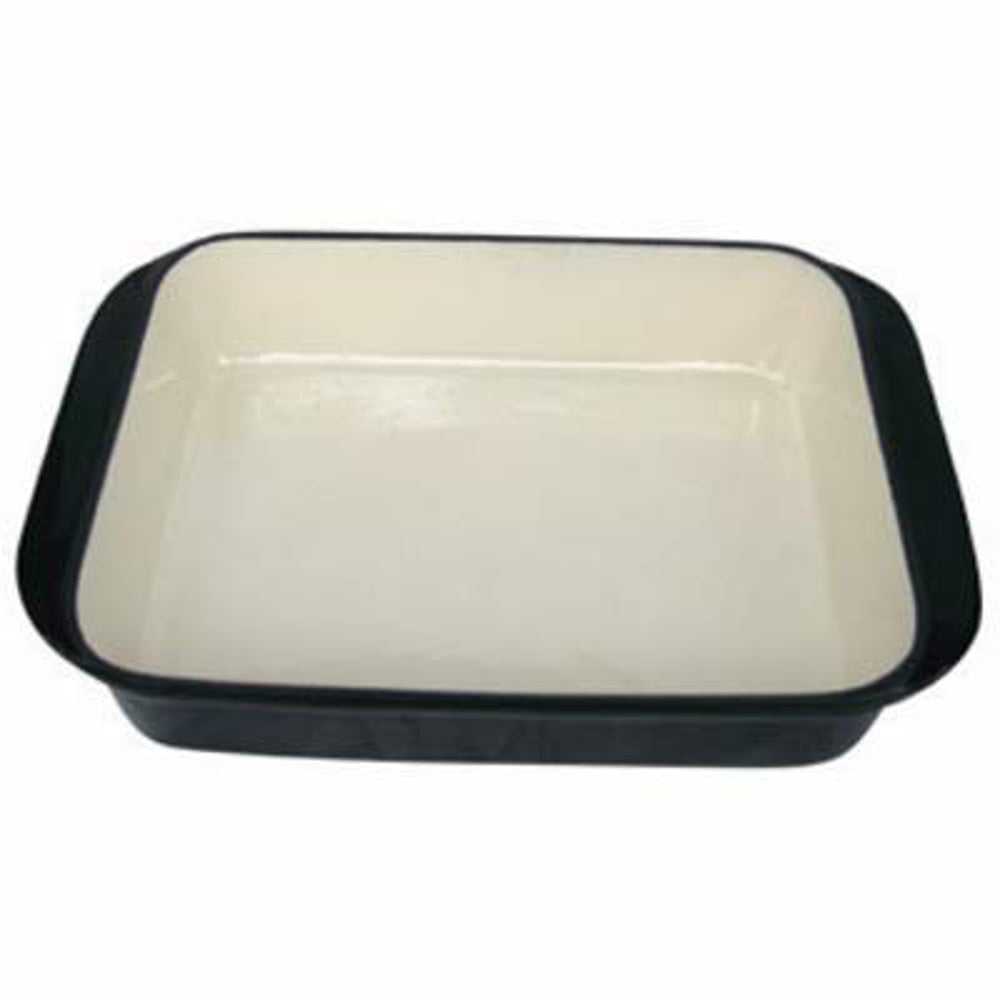 Rectangular Cast Iron Roasting Pan - Black