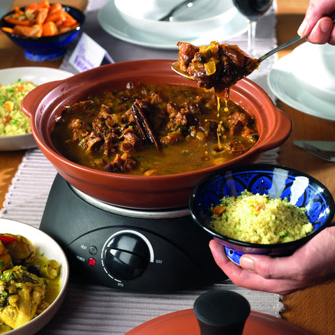 Electric Tagine Slow Cooker & Ceramic Serving Dish