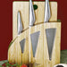 Bamboo Knife Block with Chopping Board for the Chopaholic Oriental 3 Piece Knife Set