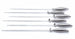 Professional Chef's Stainless Steel Barbecue Skewers, Complete Set of 6