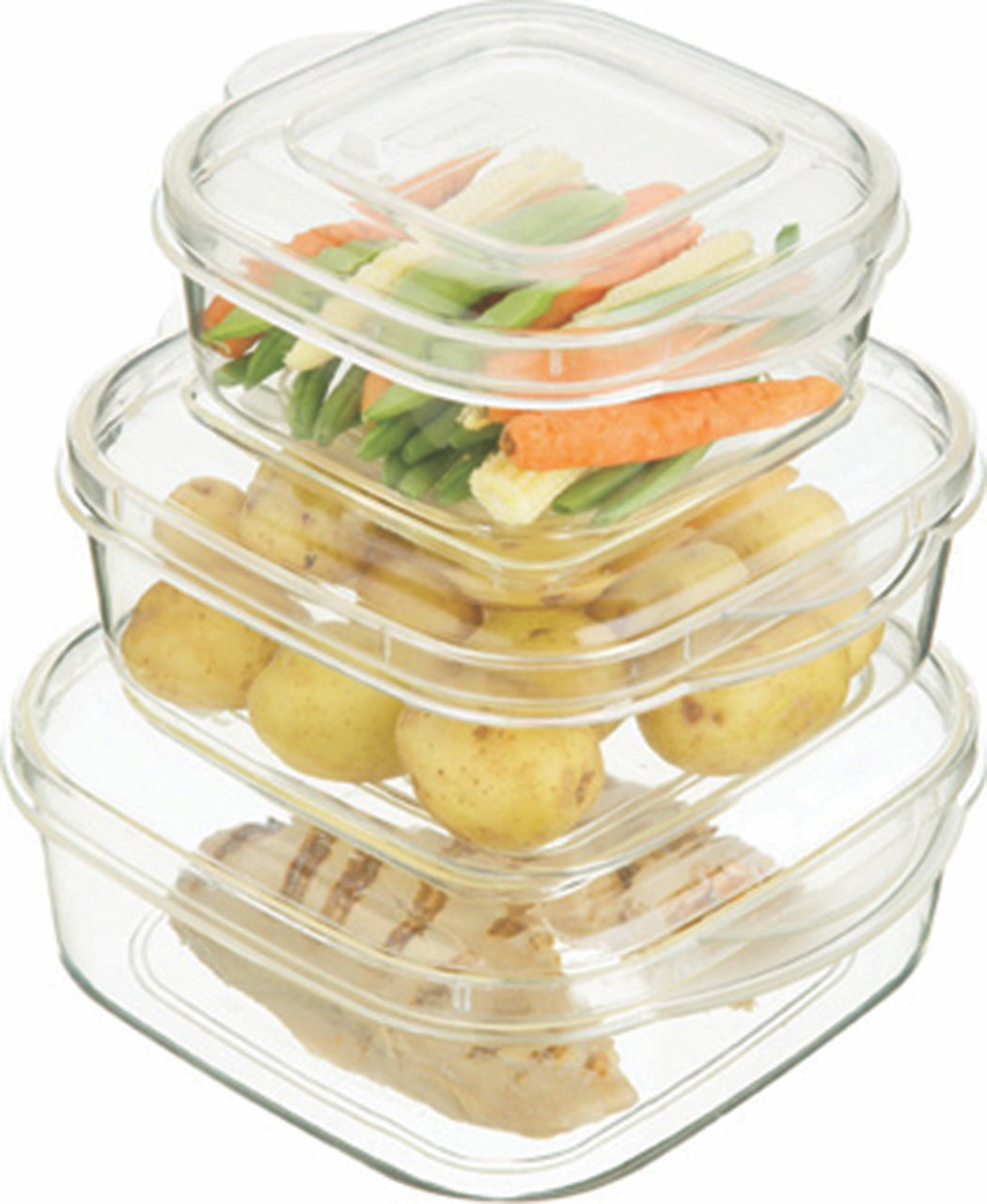 Kitchen Craft 3-Piece Microwave Casserole Container Set