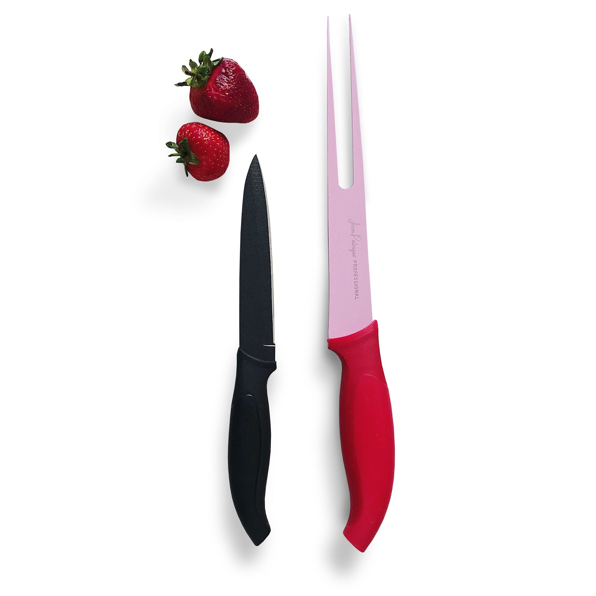 Carving Knife & Meat Fork - Contemporary Colours