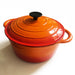 Round Dutch Oven Casserole Dish - Orange 26cm