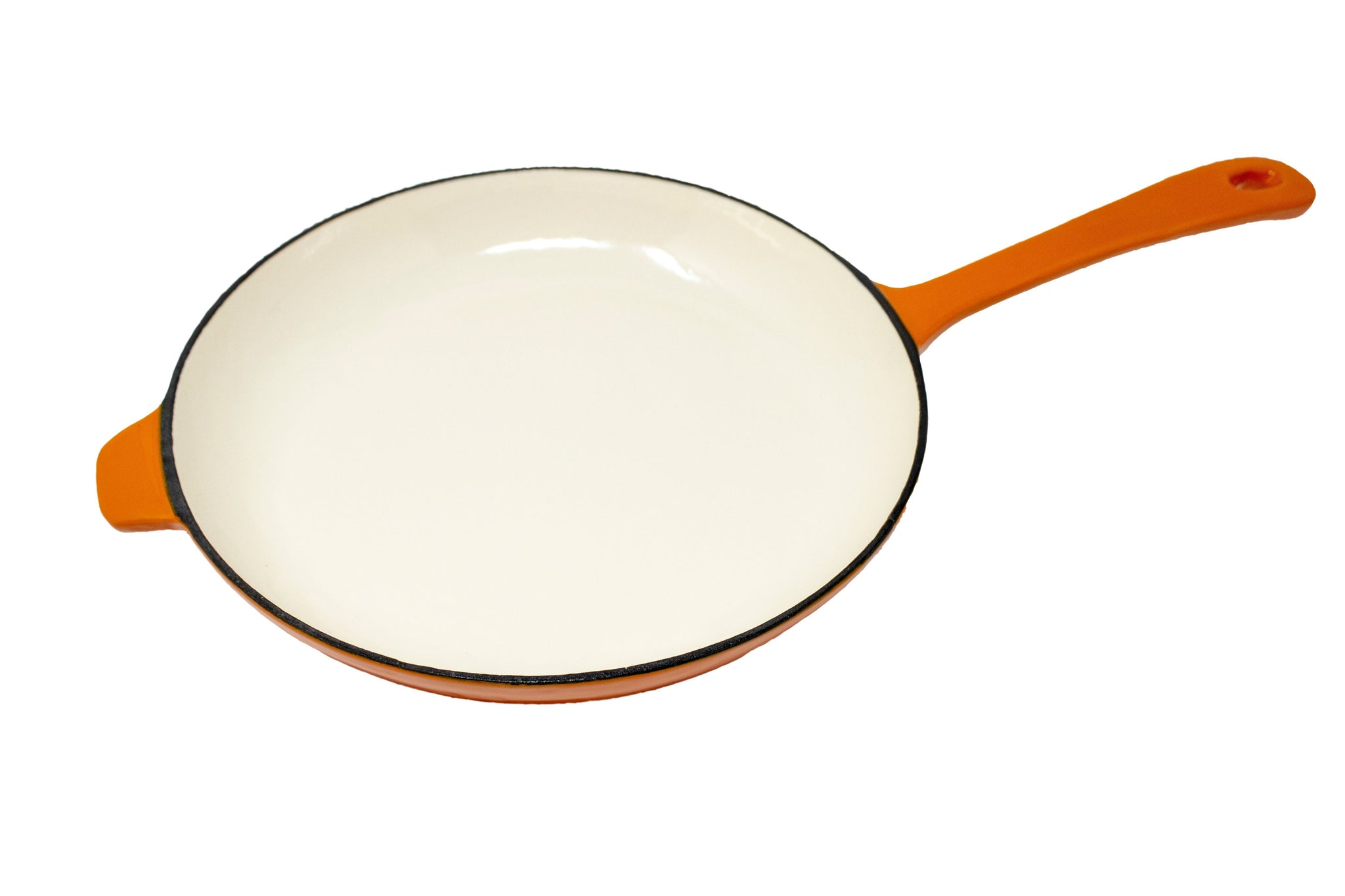 28cm Cast Iron Fry Pan - Orange