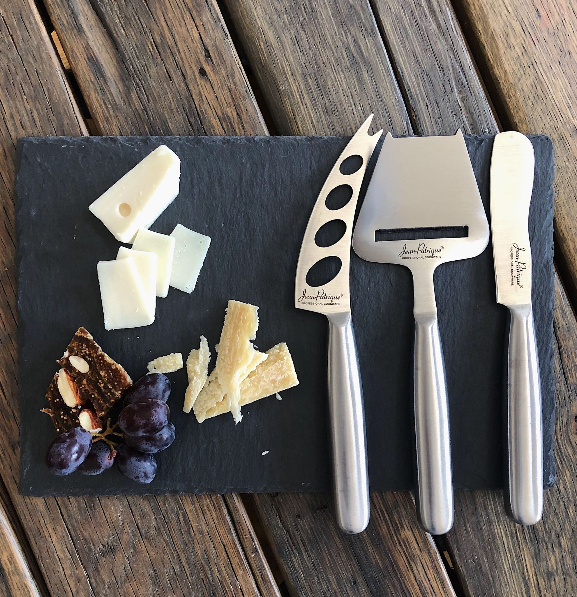 Tuscany Slate Serving Board & 3 Piece Cheese Knife Set