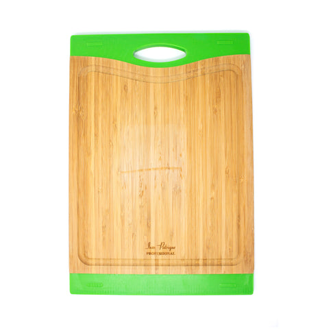 Bamboo Chopping Boards with Silicon Ends - Large