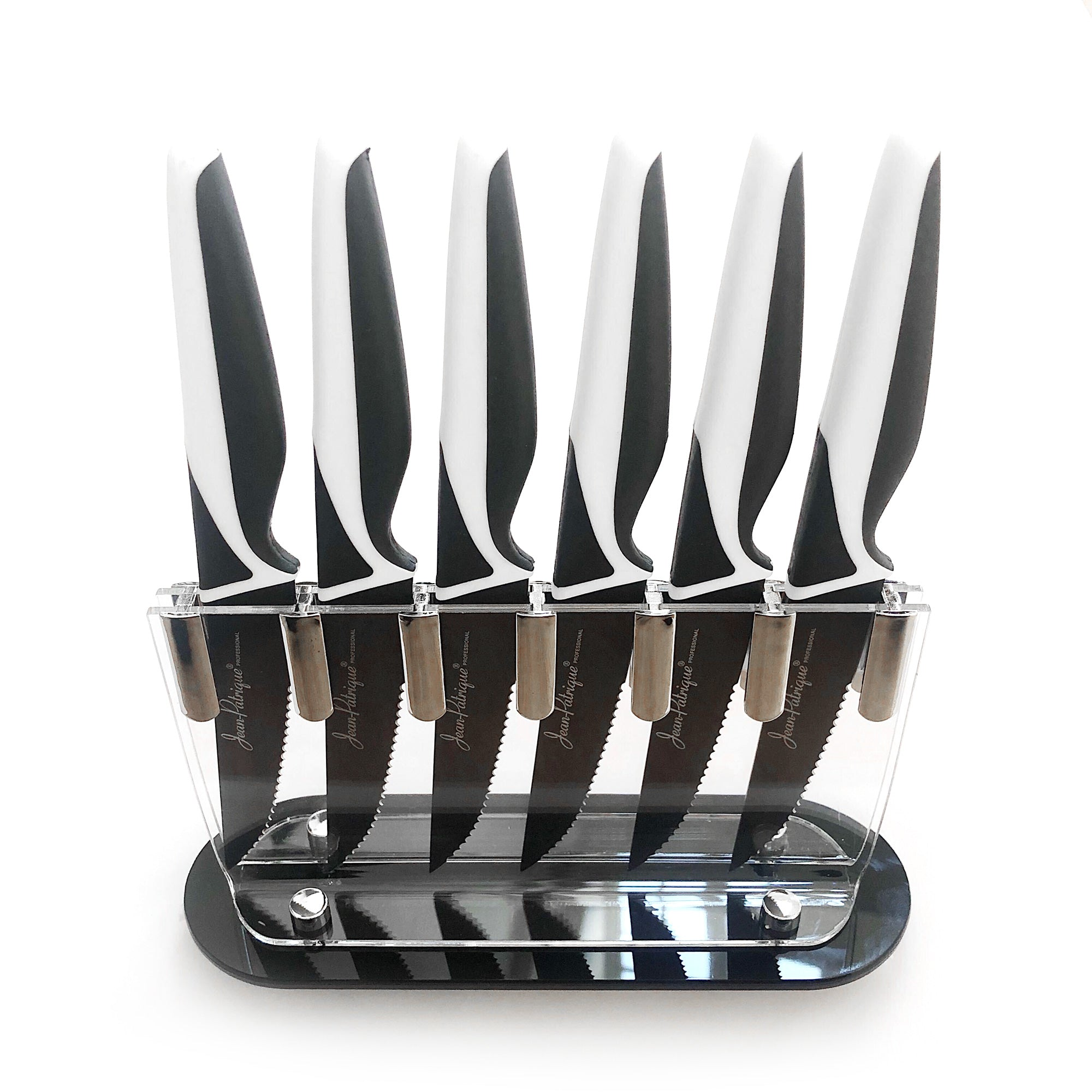 Non-Stick Steak Knives & Block - Set of 6