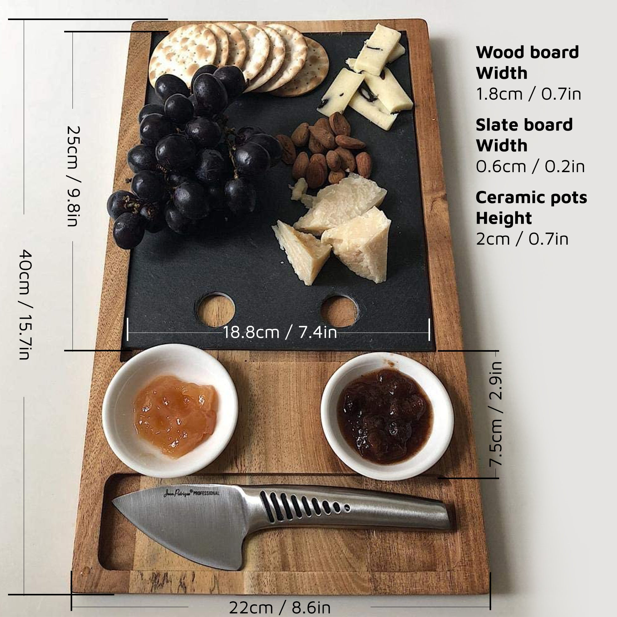 Slate Cheeseboard & Knife Set