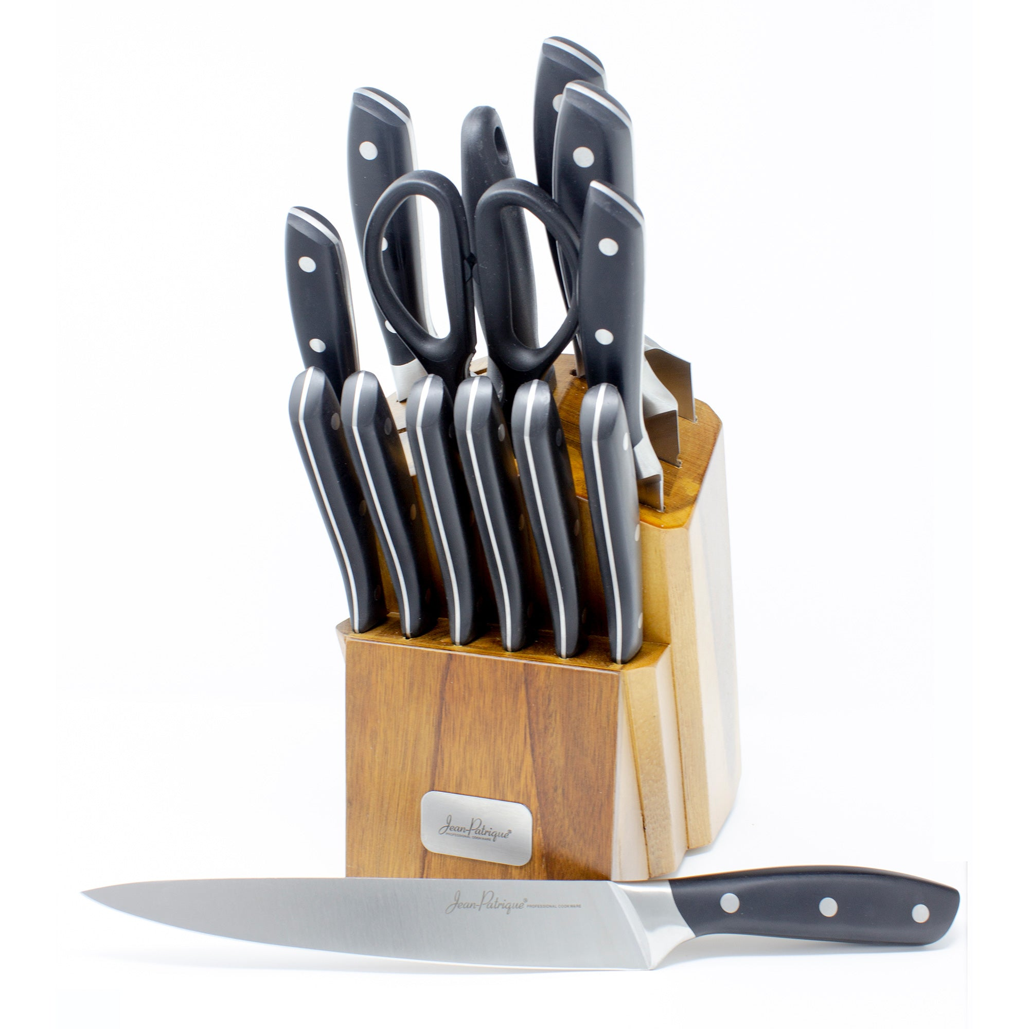 Onyx Collection 14 Piece Knife Set with Wooden Block