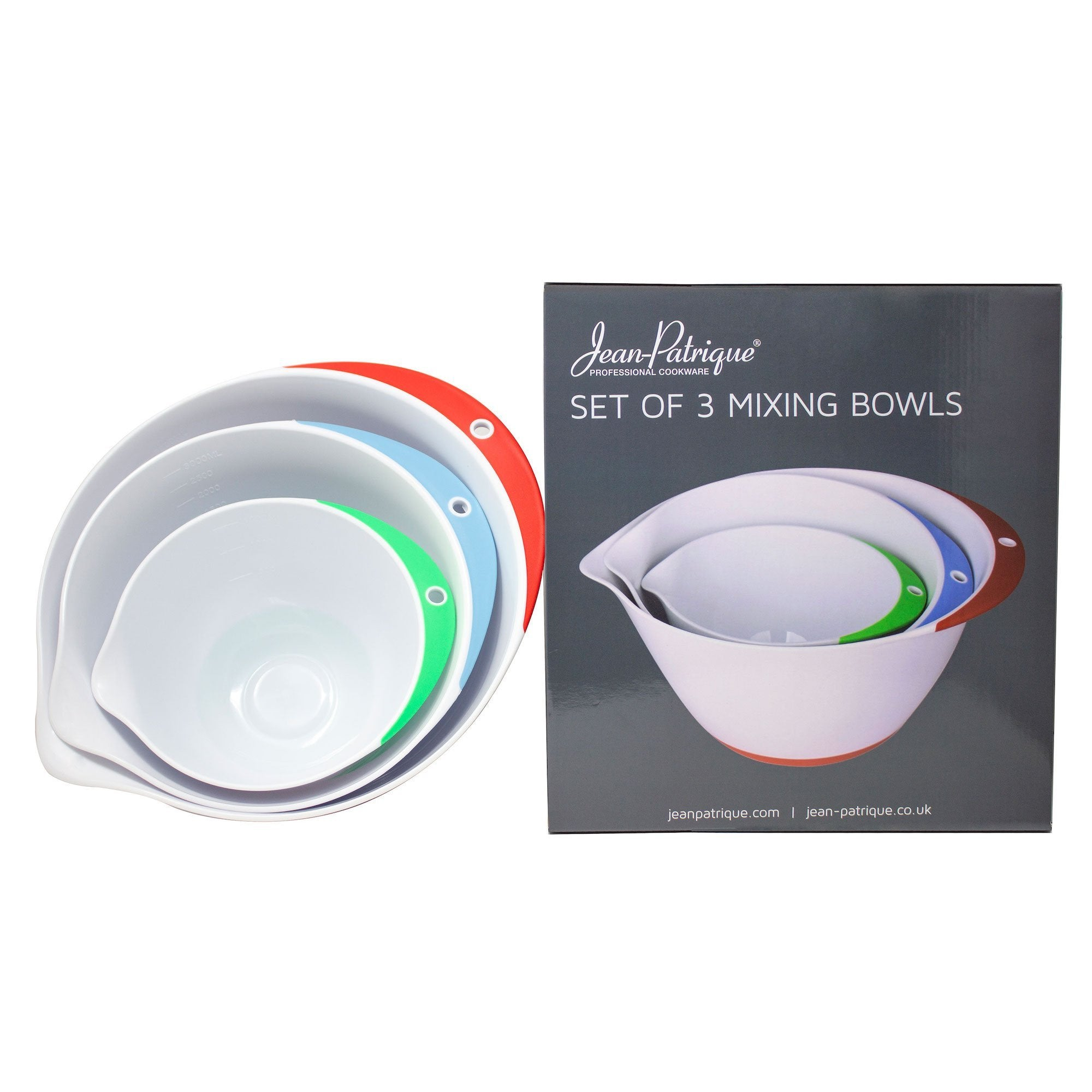 Plastic Mixing Bowls - Set of 3