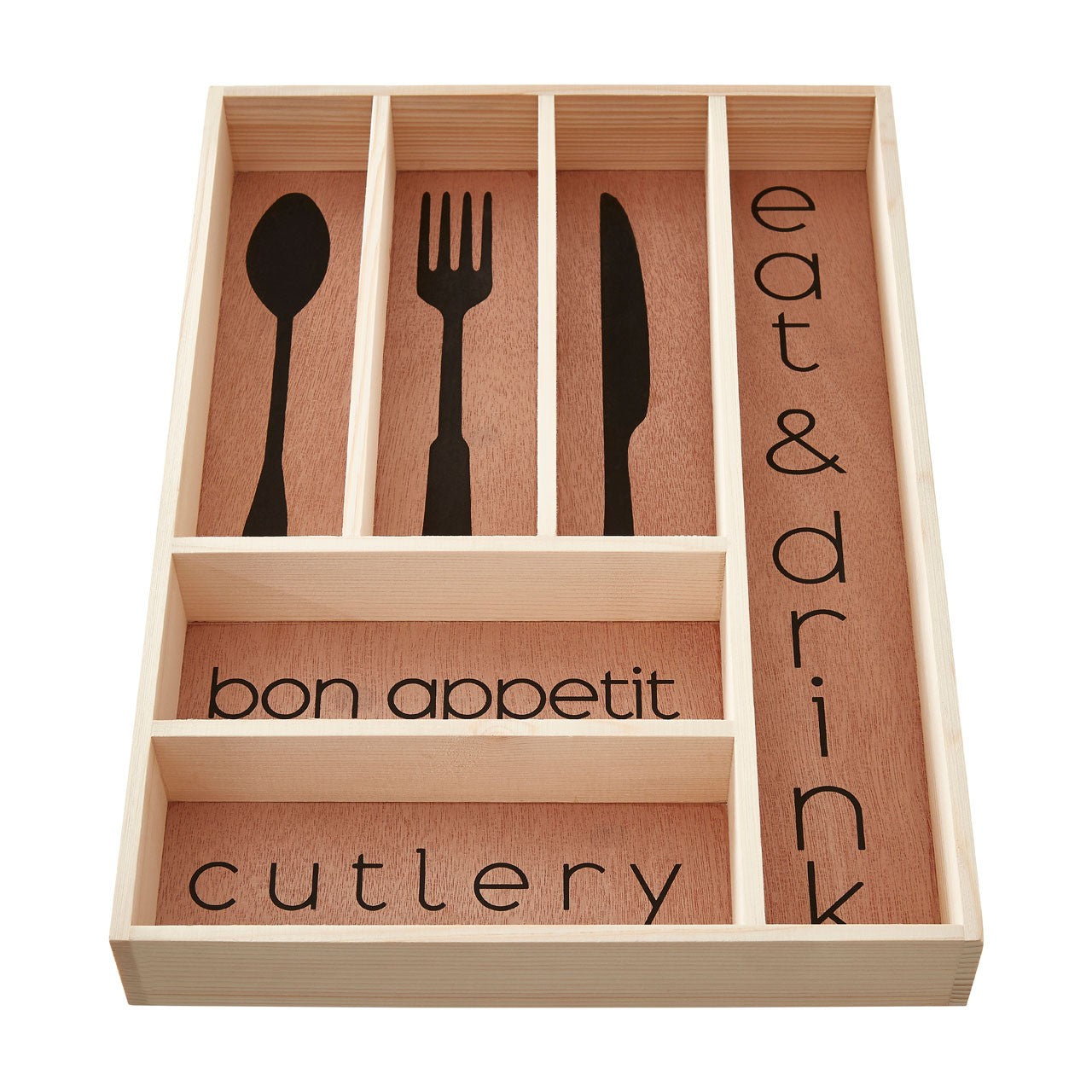 Wooden Modern Design Cutlery Tray