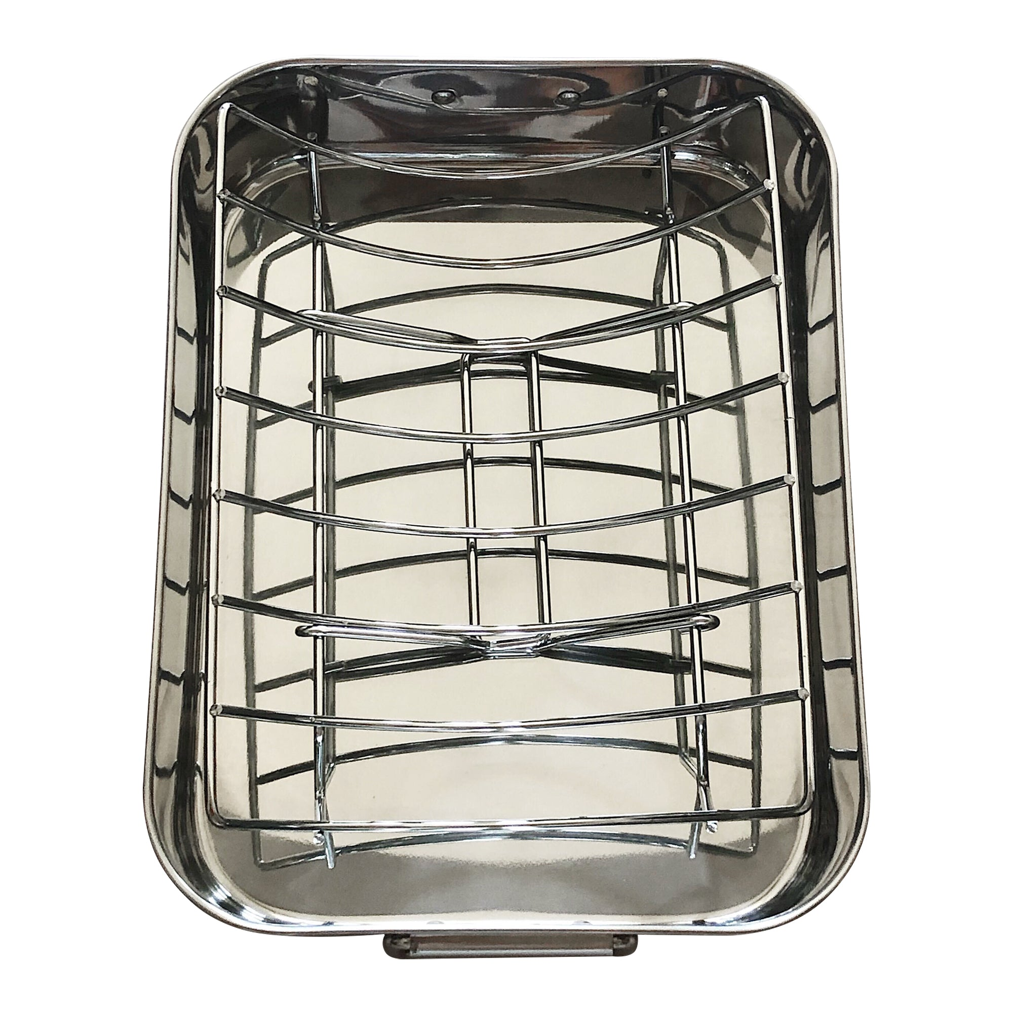 Stainless Steel Roaster Pan with Serving Rack Box
