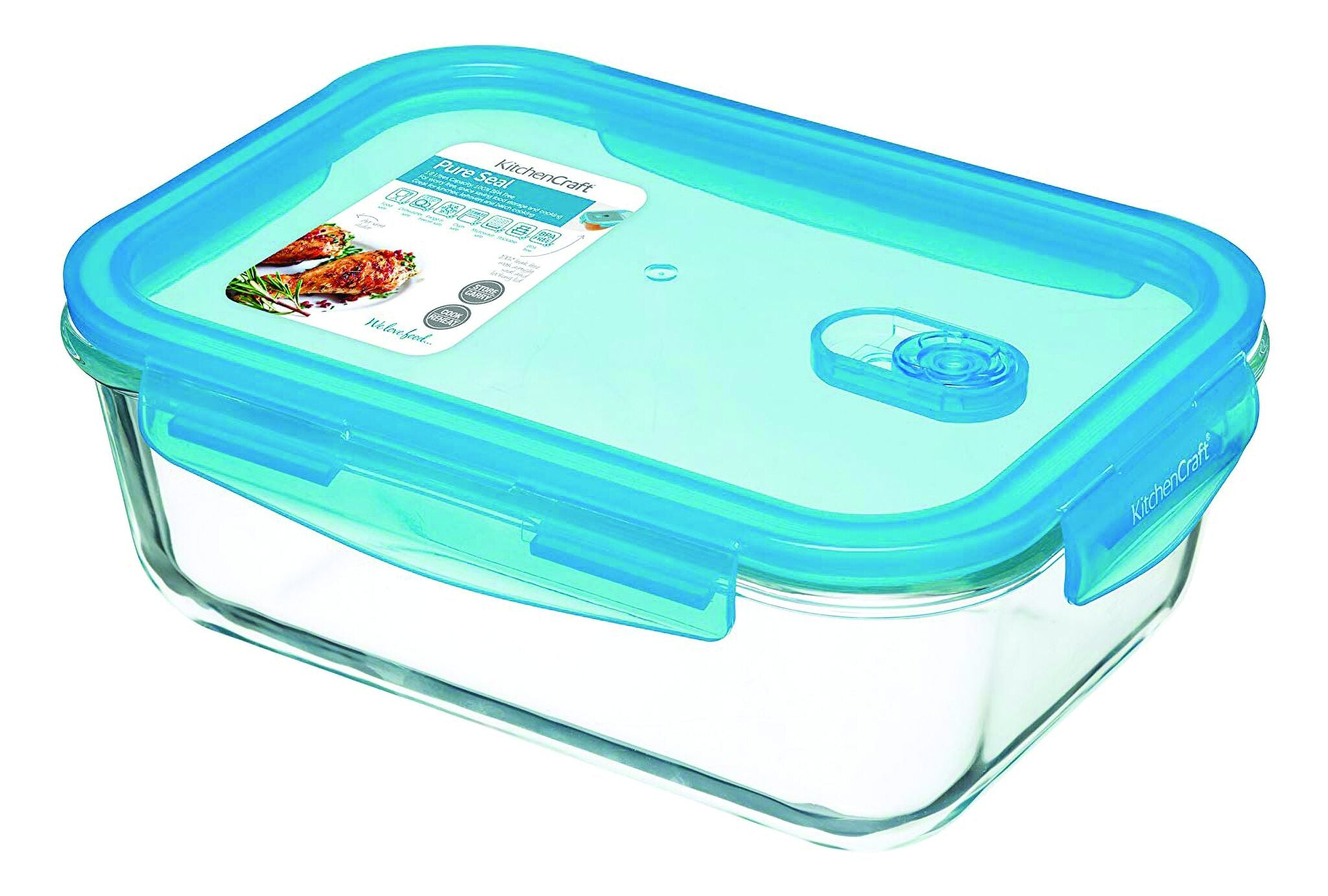 Pure Seal Glass Rectangular Storage Container