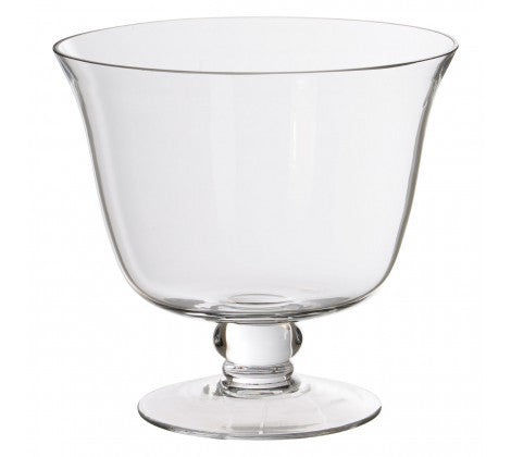 Large Clear Glass Trifle Bowl