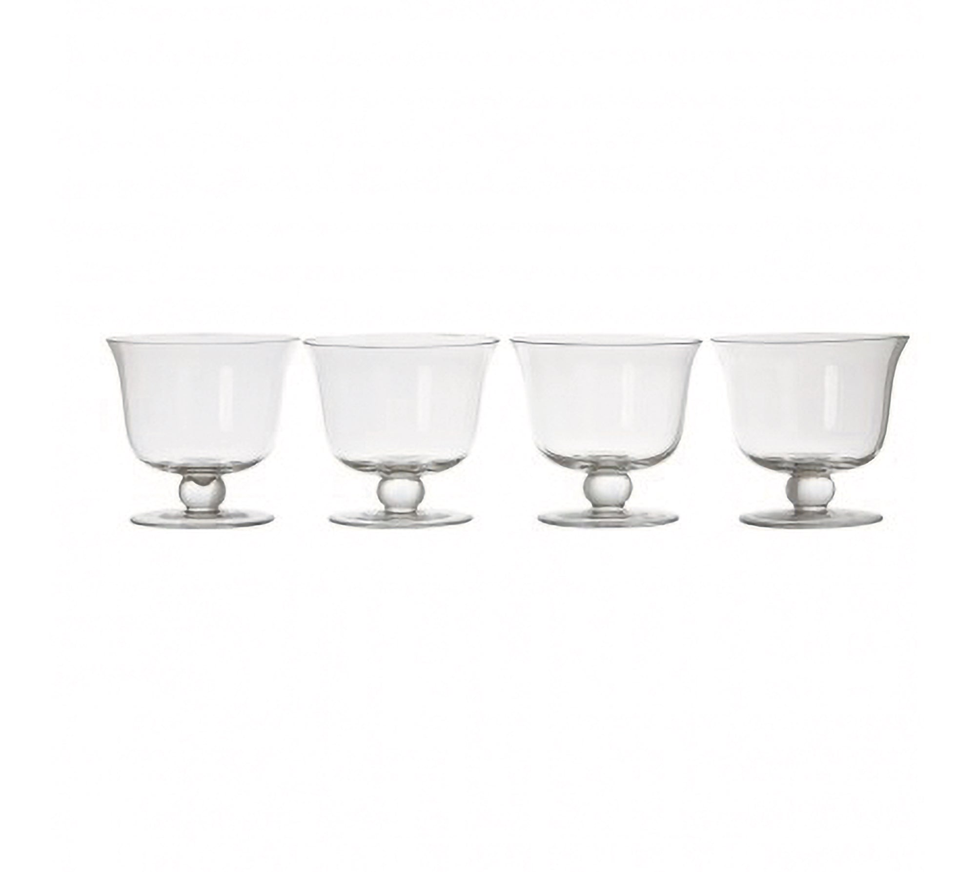 Clear Glass Dessert Dishes - Set of 4