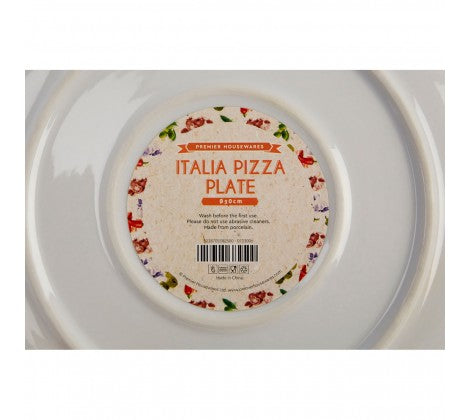 Large Italia Pizza Plate - Set of 4