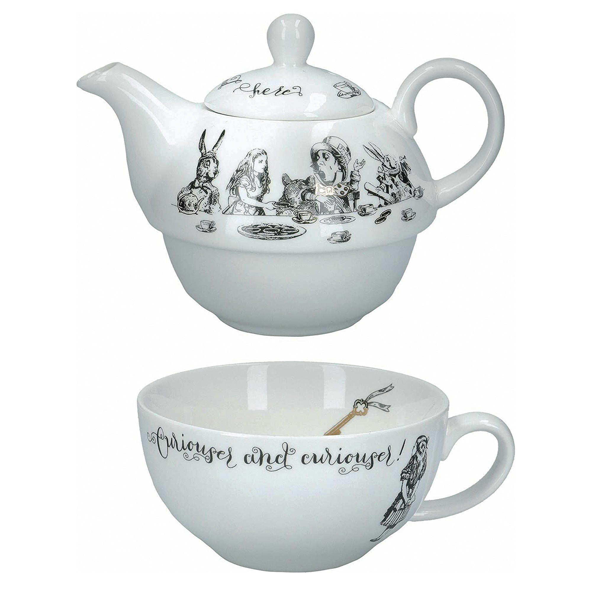 Alice in Wonderland Tea For One Teapot & Cup Set