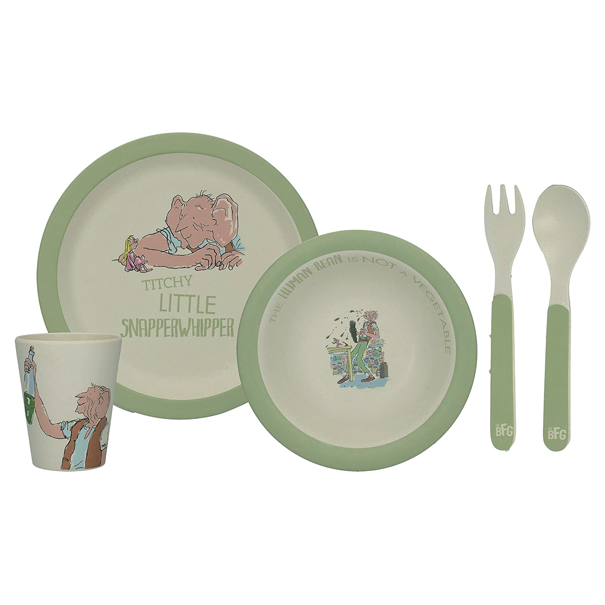 Children's Bamboo Wood 5pce Dinner Set - The BFG