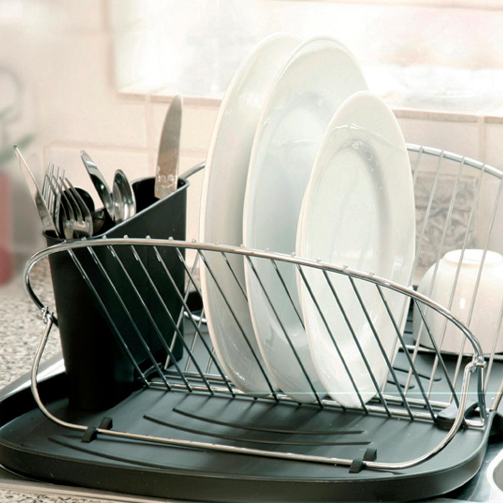 Space-Saving Butterfly Dish Rack & Drain
