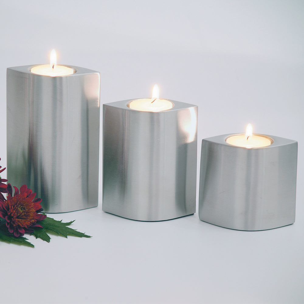 Set of 3 S/Steel Tealight Holders