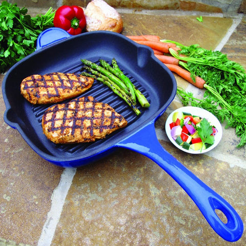 25cm Professional Square Cast Iron Grill Pan