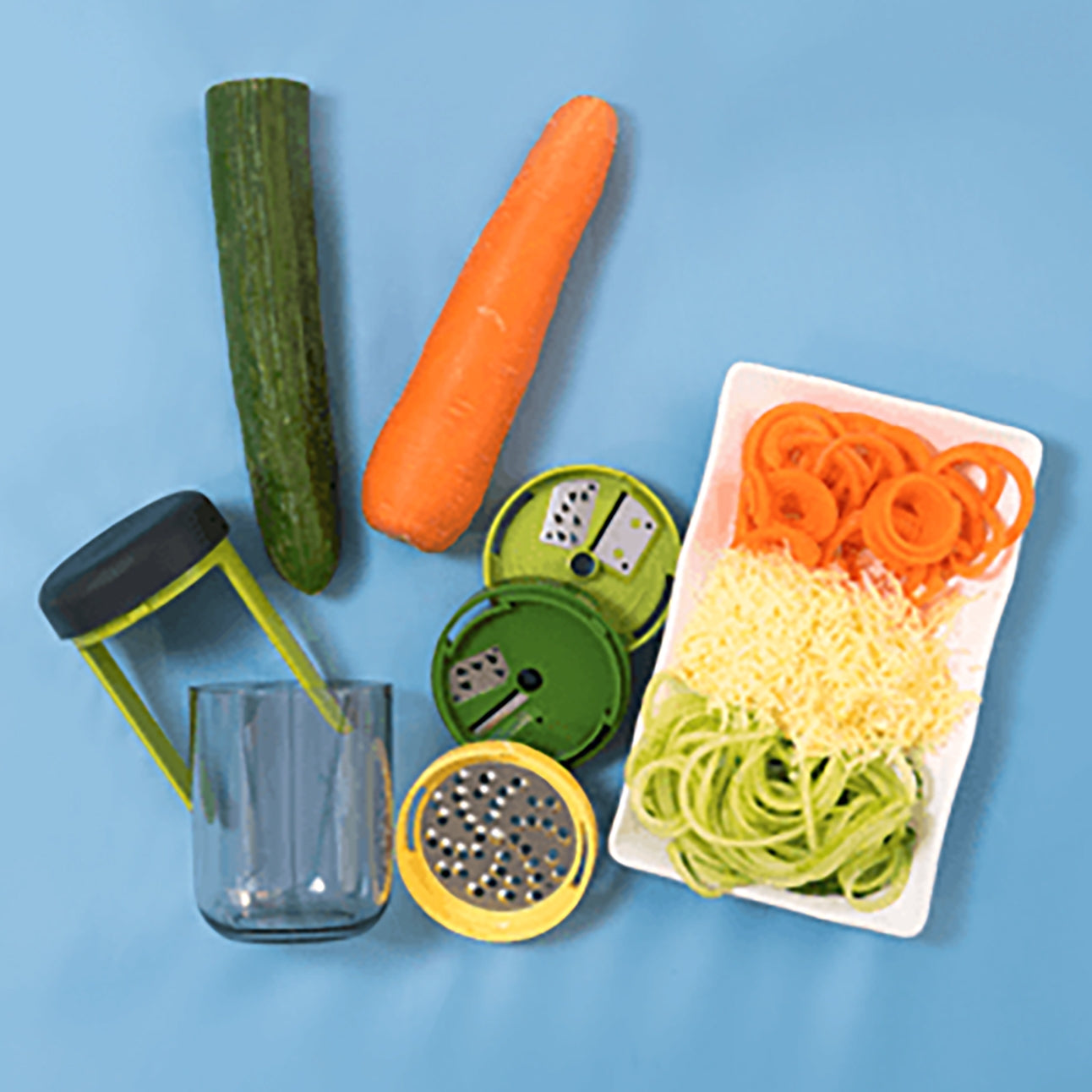 Compact 3-in-1 Spiralizer