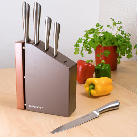 Dunas 5pce Knife Set & Block