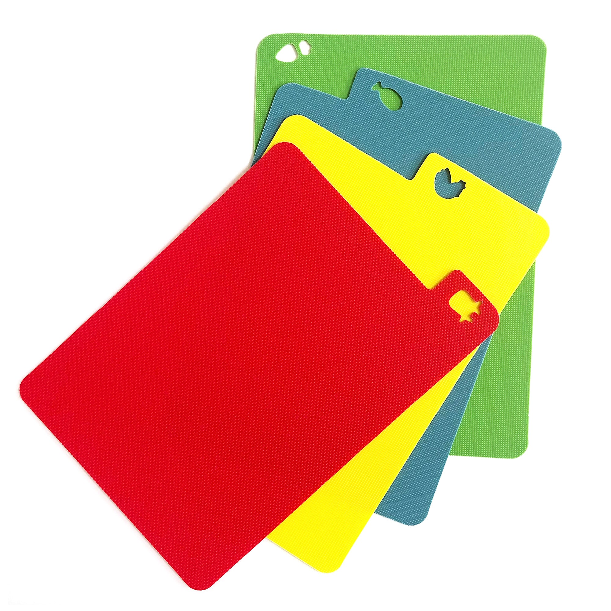 Flexible Plastic Chopping Board Set - Colour Coded