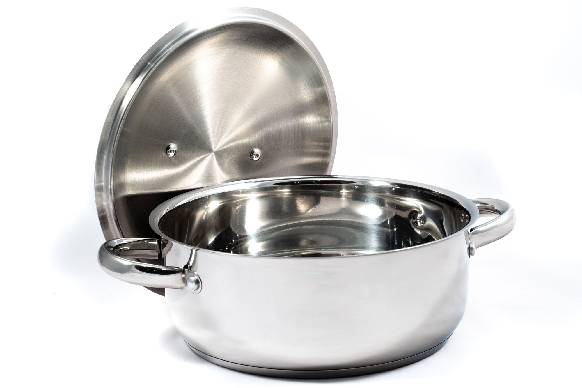 Stainless Steel Low Casserole Pan - 28cm