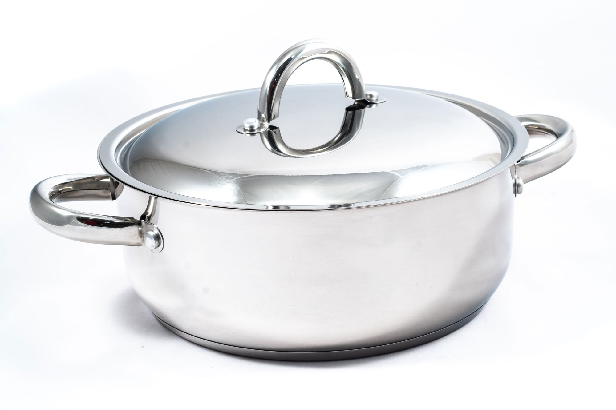 Stainless Steel Low Casserole Pan - 24cm